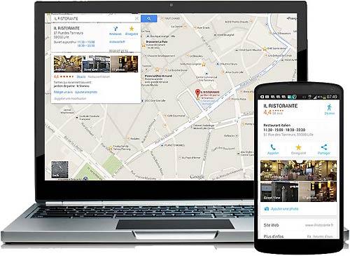 Accès visite virtuelle Street View avec Maps