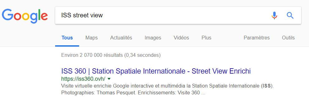 recherche ISS Street View