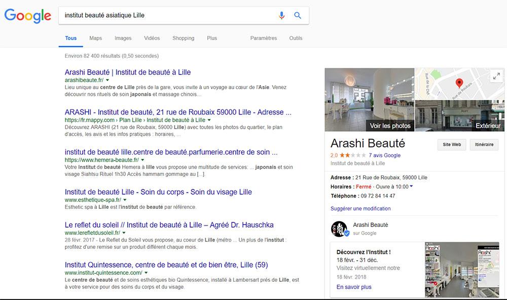 recherche beauté Asie Lille