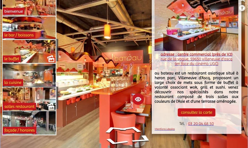 site web 360 à partir d'un Street View enrichie d'infobulles multimédias