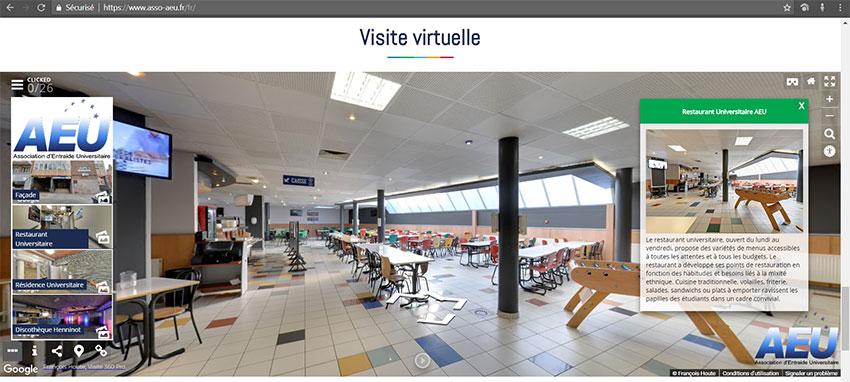 AEU intégration visite virtuelle