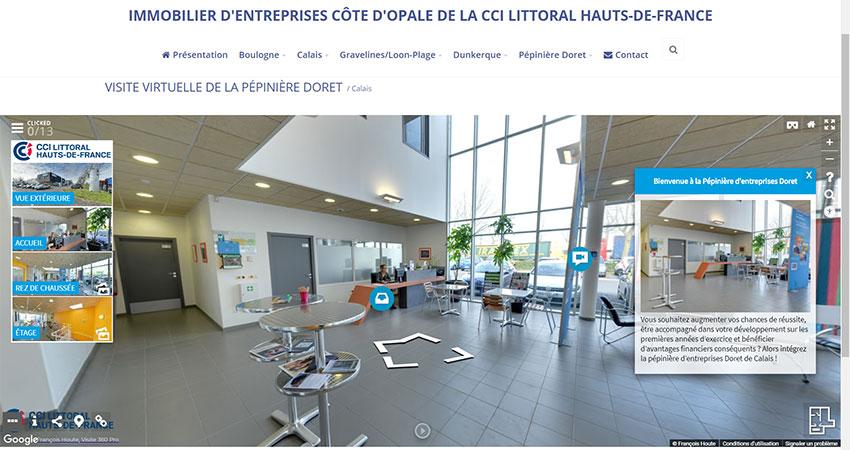 CCI intégration visite virtuelle