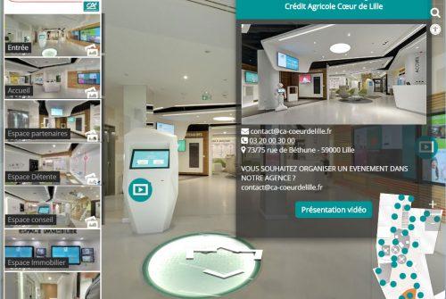 Street View enrichi Crédit Agricole Visite 360 Pro
