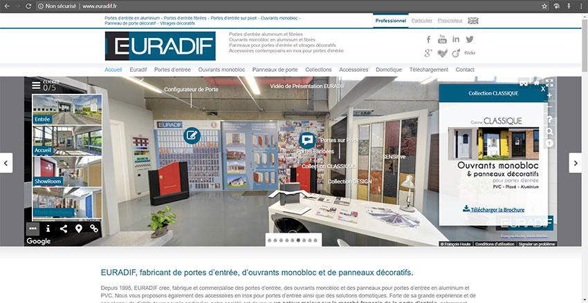 Euradif intégration visite virtuelle