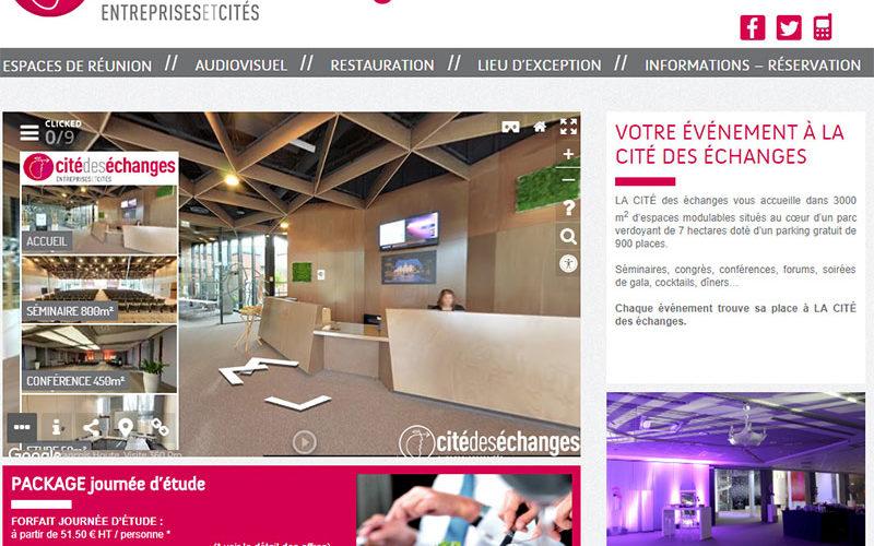 intégration de la visite virtuelle enrichie dans un site Internet