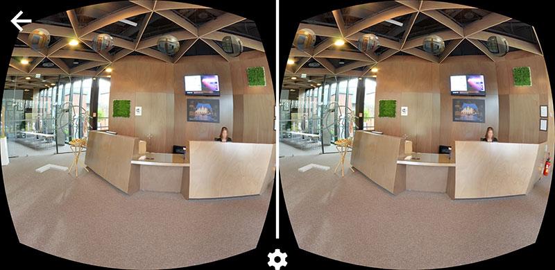 vue en mode VR Cardboard