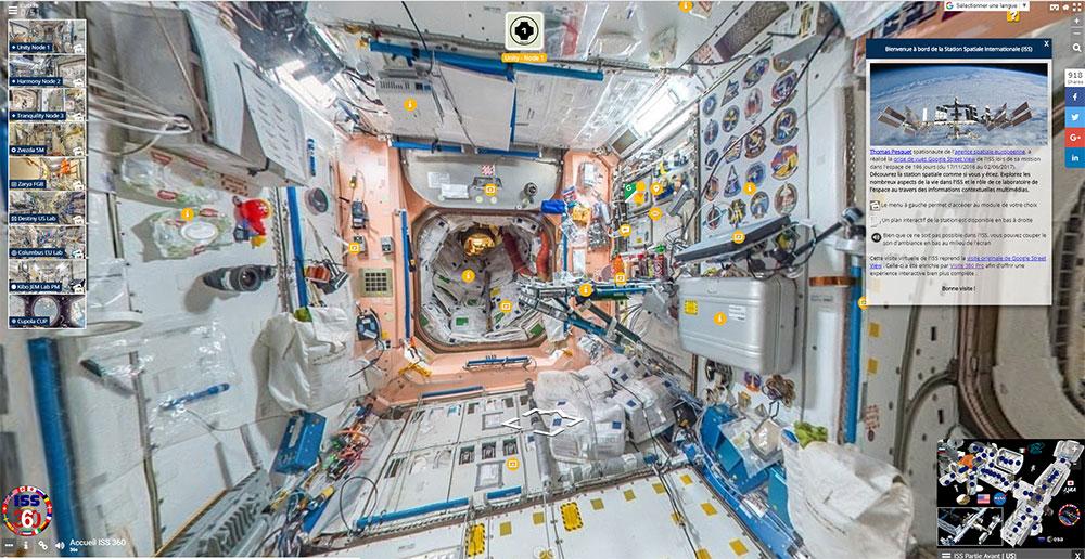 écran accueil site web ISS 360