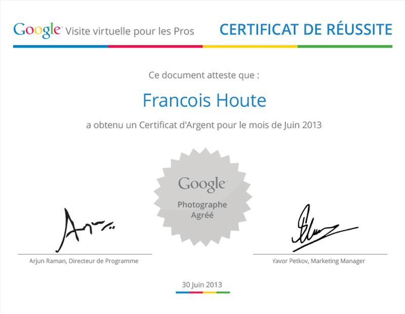 Certificat Argent Juin 2013