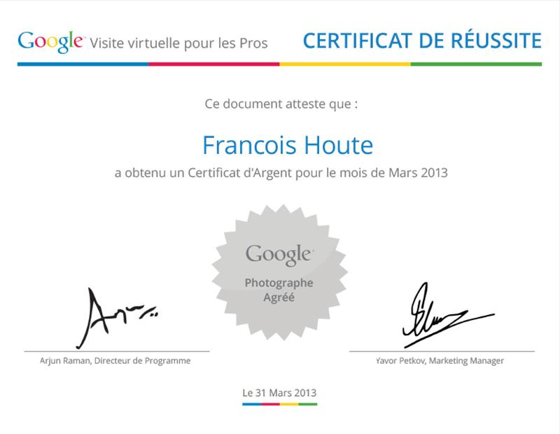 Certificat Argent Mars 2013
