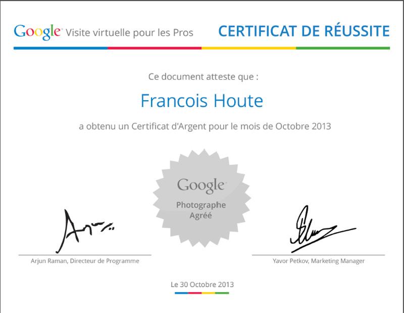 Certificat Argent Octobre 2013