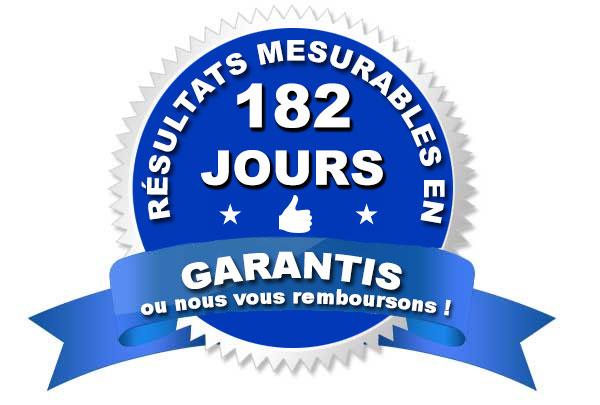 Résultats mesurables en 182 jours garantis